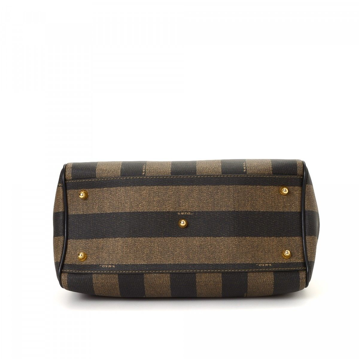 9e738ff4989f Fendi Small Doctor s Bag Pequin Coated Canvas - LXRandCo - Pre-Owned ...