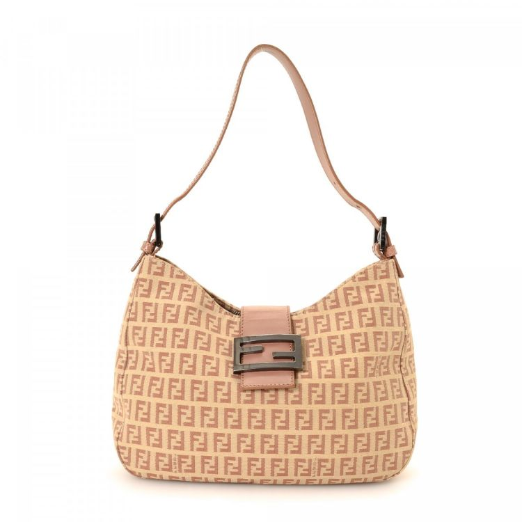 ... get fendi zucca canvas shoulder bag zucca canvas lxrandco pre owned  luxury vintage 0ff38 563a4 ca785b7df4