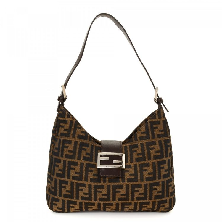 LXRandCo guarantees this is an authentic vintage Fendi shoulder bag. This classic  purse in brown is made in zucca canvas. Due to the vintage nature of this  ...