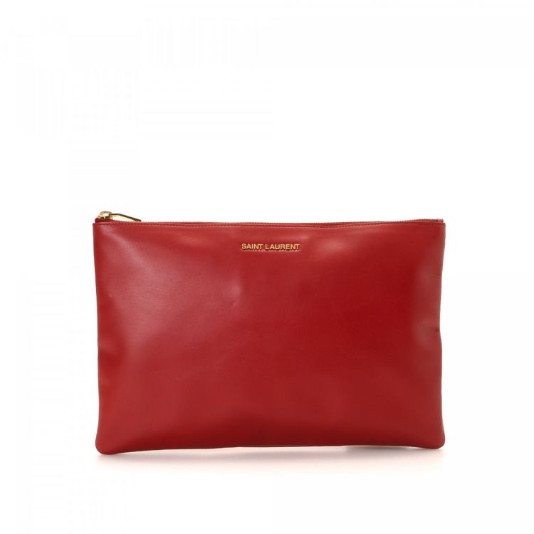 cd8ed1062ccd4 Yves Saint Laurent Clutch Bag Leather - LXRandCo - Pre-Owned Luxury ...