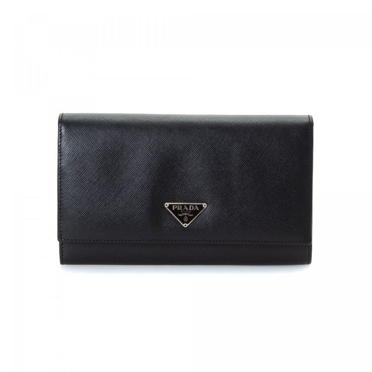 9bc95afde424 ... clearance prada saffiano clutch wallet saffiano leather lxrandco pre  owned luxury vintage 42d70 fce00 ...