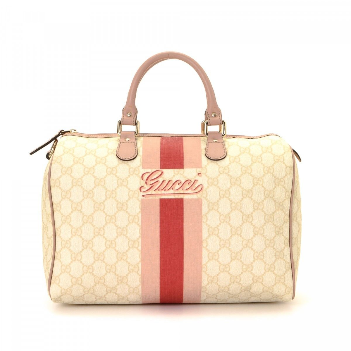Gucci Joy Boston Bag Gg Supreme Coated Canvas Lxrandco Pre Owned Luxury Vintage