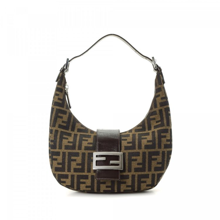 LXRandCo guarantees this is an authentic vintage Fendi Mini shoulder bag.  This beautiful purse in brown is made in zucca canvas. Very good condition   (A) a2b6bc3200ef7