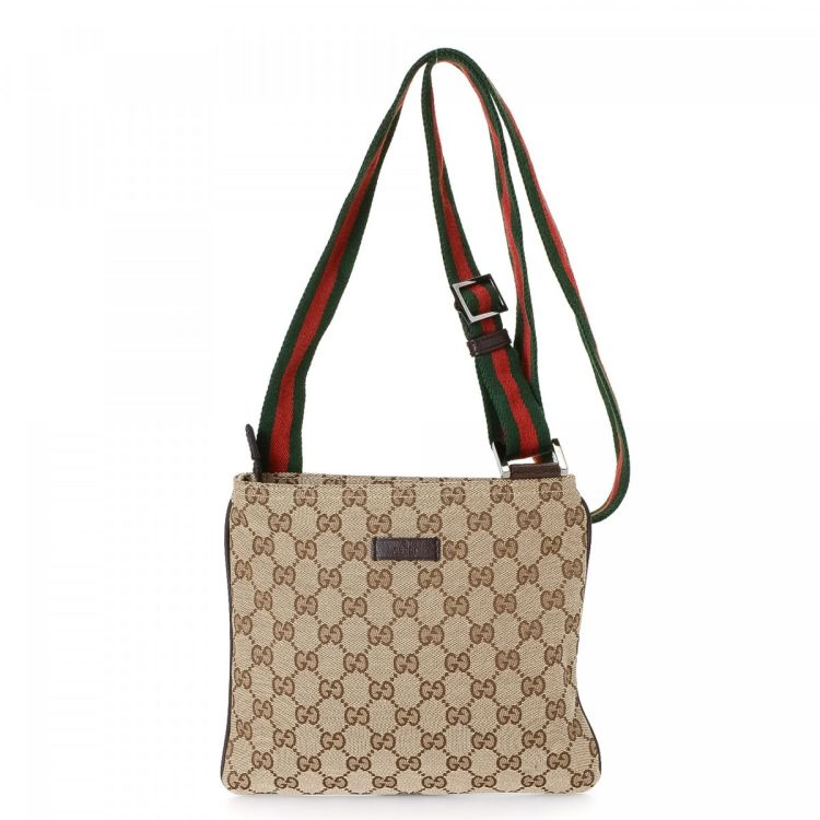 65d764bef07f41 The authenticity of this vintage Gucci Web Crossbody Bag messenger & crossbody  bag is guaranteed by LXRandCo. Crafted in gg canvas, this everyday  pocketbook ...