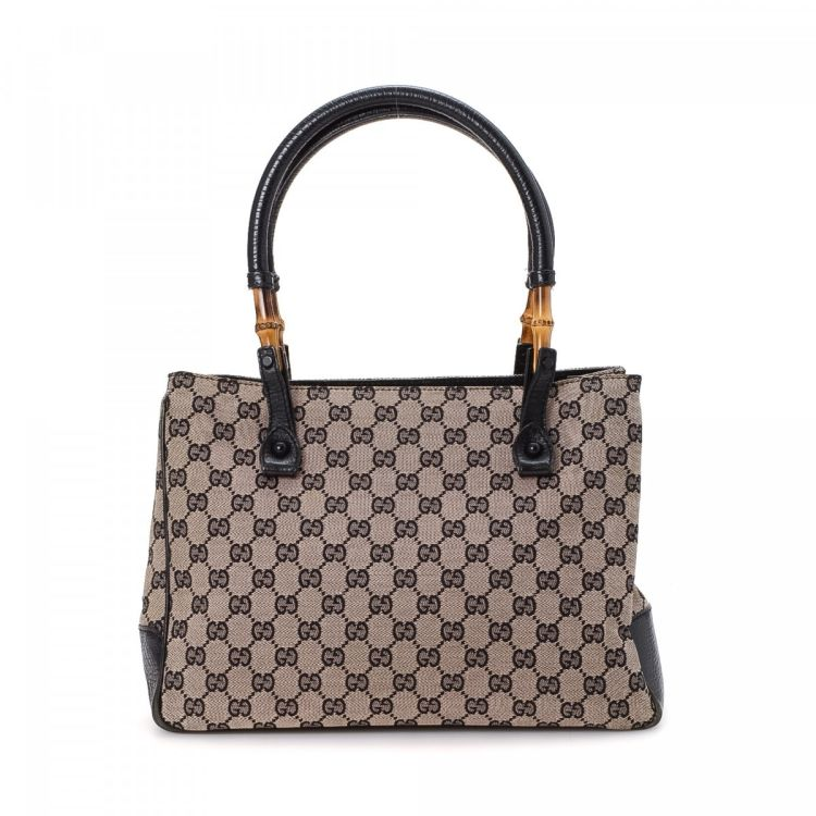 878ffe764539 Gucci Bamboo GG Tote GG Canvas - LXRandCo - Pre-Owned Luxury Vintage