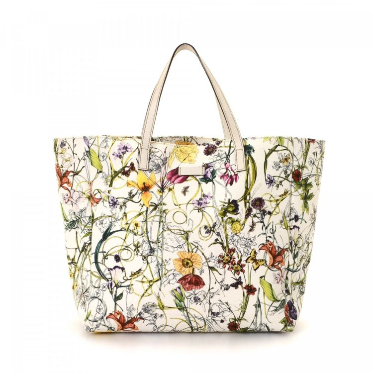 28ace90df22844 Gucci Floral Tote Canvas - LXRandCo - Pre-Owned Luxury Vintage