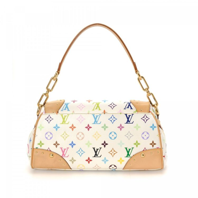 6268496d430e LXRandCo guarantees the authenticity of this vintage Louis Vuitton Beverly  MM handbag. This lovely pocketbook was crafted in monogram multicolore  coated ...