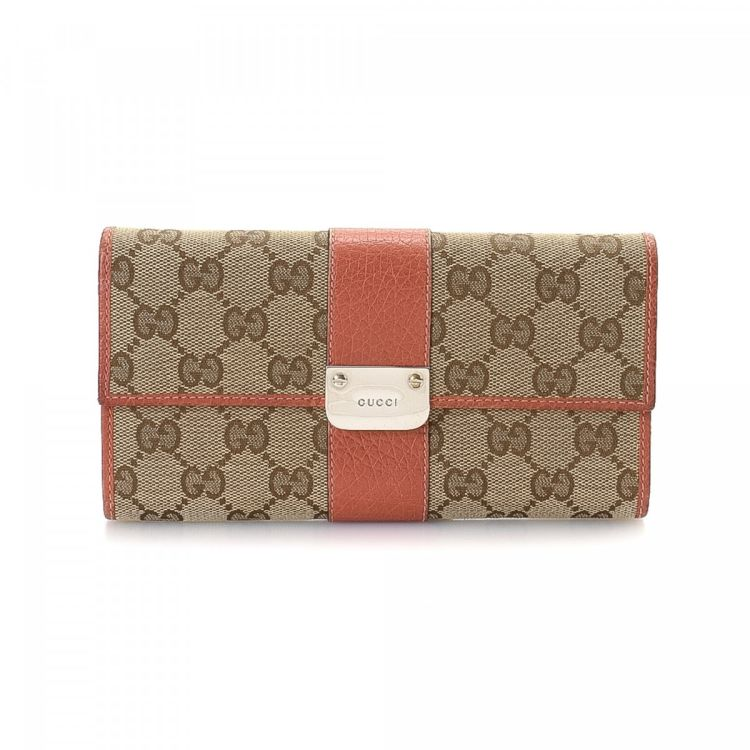 8a904148091d40 Gucci GG Continental Wallet GG Canvas - LXRandCo - Pre-Owned Luxury ...