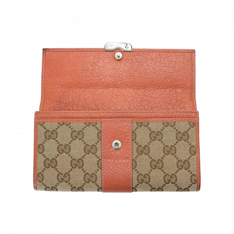 79317595216ec4 Gucci Gg Continental Wallet Canvas Lxrandco Pre Owned Luxury