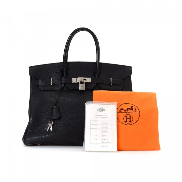 64efe5a3e2 LXRandCo guarantees the authenticity of this vintage Hermès Birkin 35  Palladium Hardware handbag. This refined bag in beautiful black is made in  togo calf.