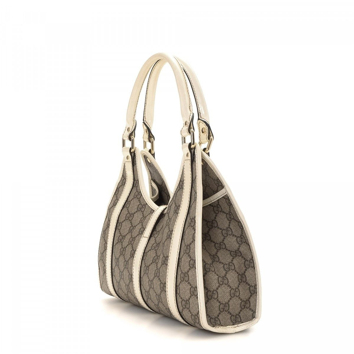 924bd9b3fbe Gucci Bardot GG Supreme Coated Canvas - LXRandCo - Pre-Owned Luxury ...