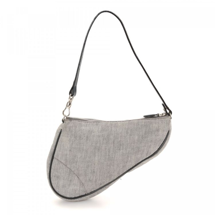 Dior Saddle Pouch Canvas - LXRandCo - Pre-Owned Luxury Vintage ebbfcf6a35