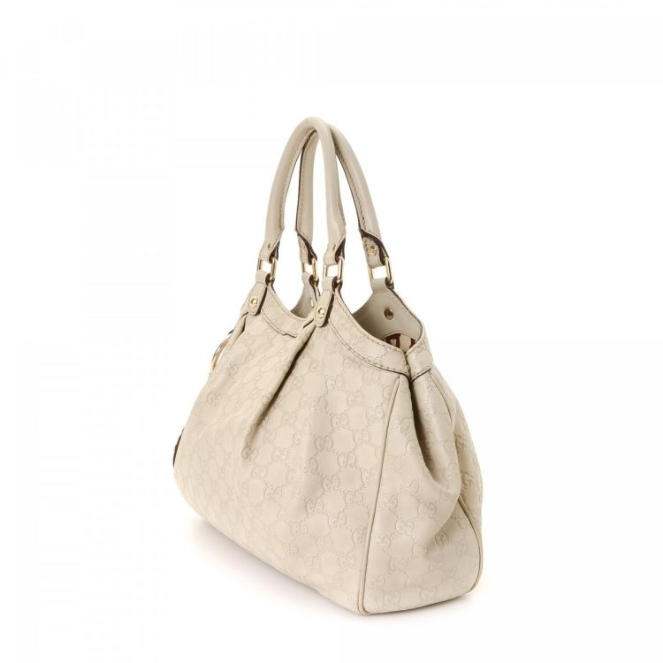 2589886503d free lxrandco guarantees this is an authentic vintage gucci sukey medium  tote this elegant work bag was crafted in guccissima leather in beautiful  white ...