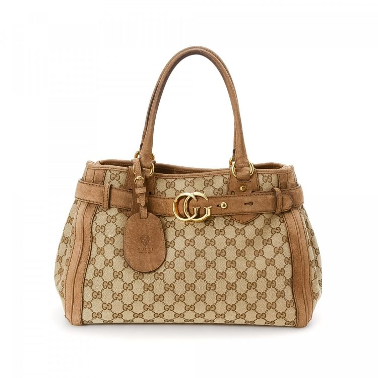 5aa42ff1606 Gucci GG Canvas Running Tote GG Canvas - LXRandCo - Pre-Owned Luxury ...