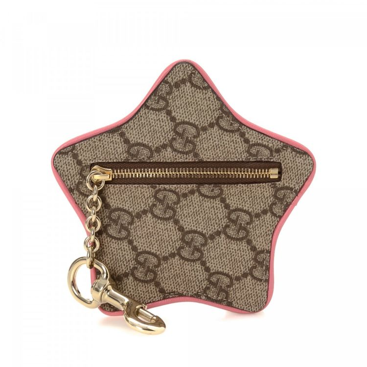 46f2be0cd4d Gucci Star Coin Pouch Bag Charm GG Supreme Coated Canvas - LXRandCo ...
