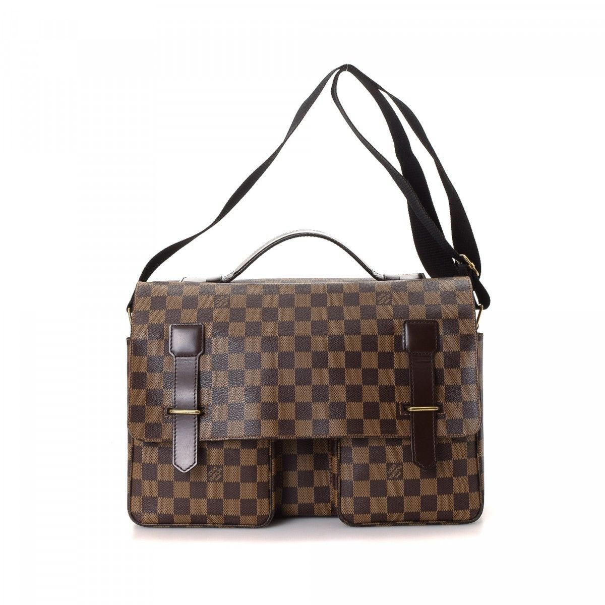 710b8c8de80f Louis Vuitton Broadway. LXRandCo guarantees this is an authentic vintage Louis  Vuitton Broadway shoulder bag. Crafted in damier ebene coated canvas ...
