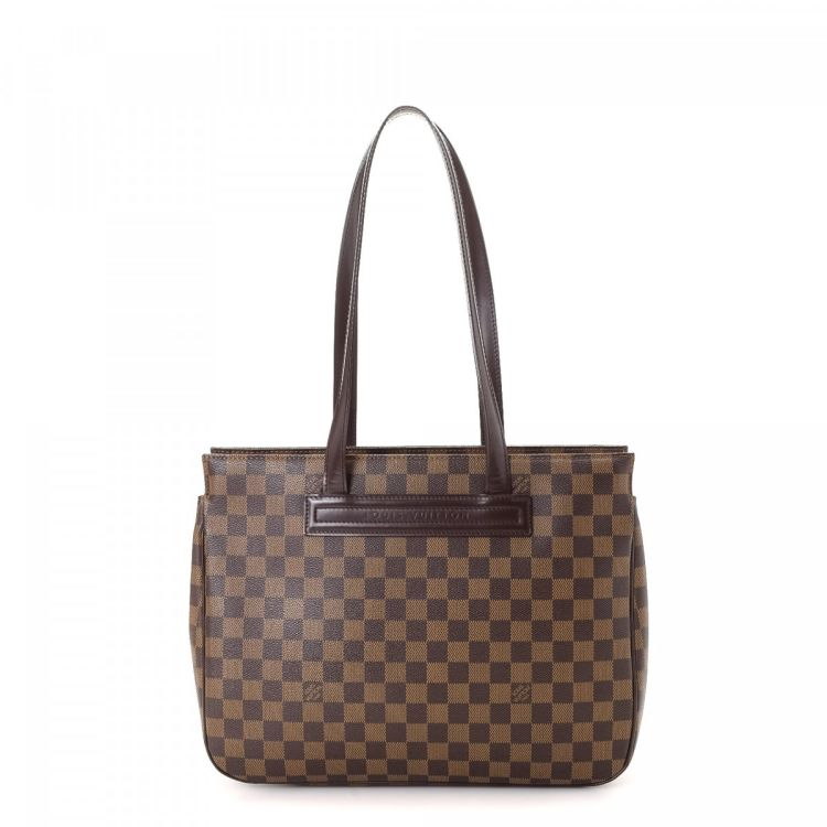 5342c15e5c7ac LXRandCo guarantees this is an authentic vintage Louis Vuitton Parioli PM  shoulder bag. Crafted in damier ebene coated canvas