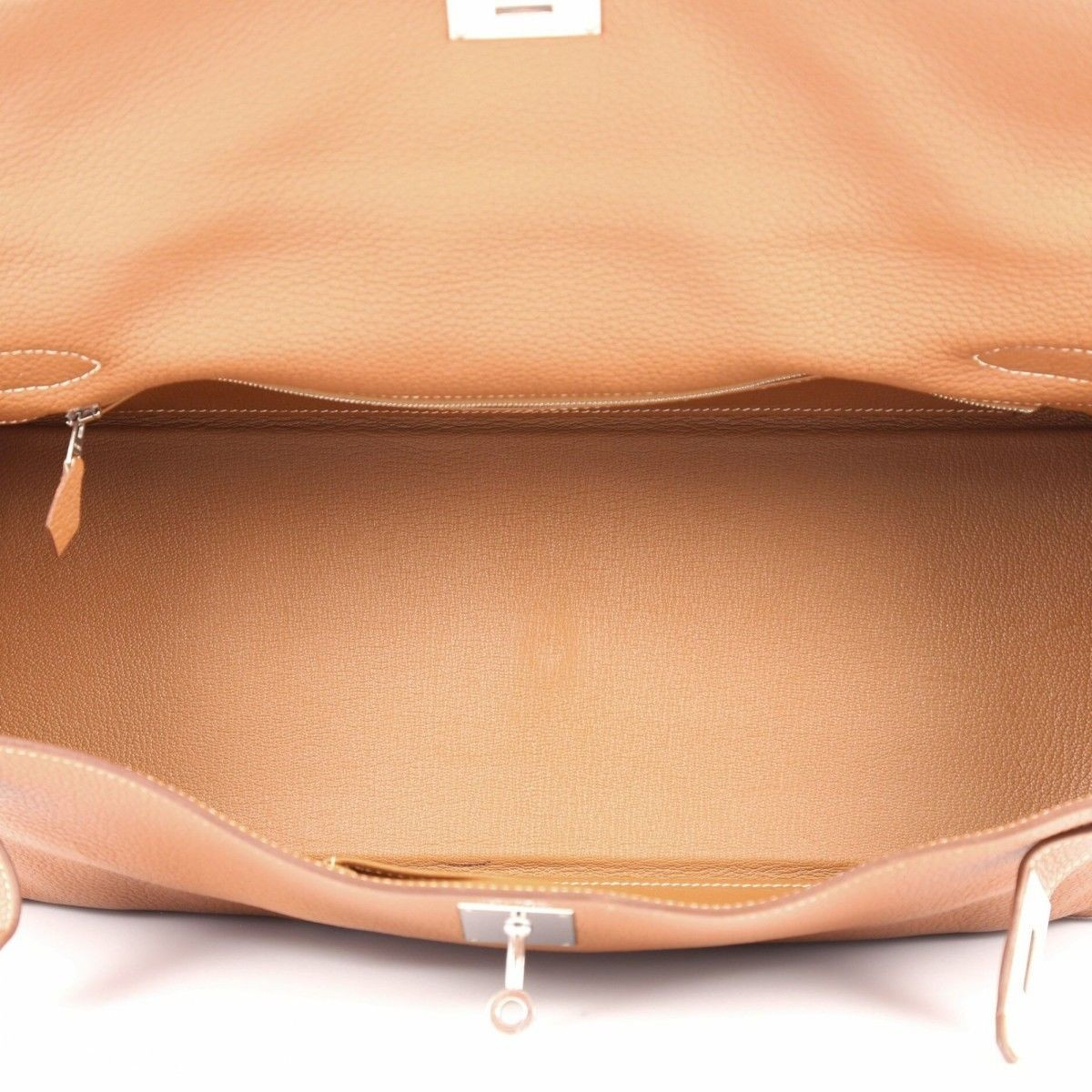 9907a50148d1 Hermès Shoulder Kelly 42 Gold Clemence PHW Clemence Leather ...