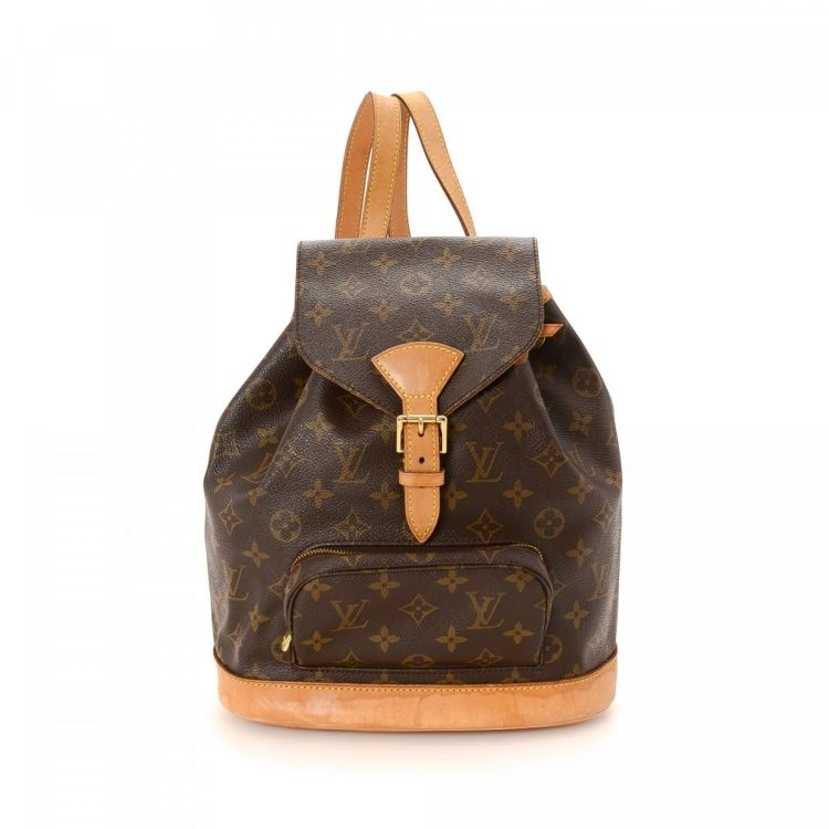 a92afe607d2 LXRandCo guarantees the authenticity of this vintage Louis Vuitton  Montsouris MM backpack. Crafted in monogram coated canvas