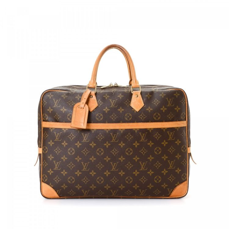 8f1a3a073a Louis Vuitton Porte Documents Voyage 2 Monogram Coated Canvas - LXRandCo -  Pre-Owned Luxury Vintage