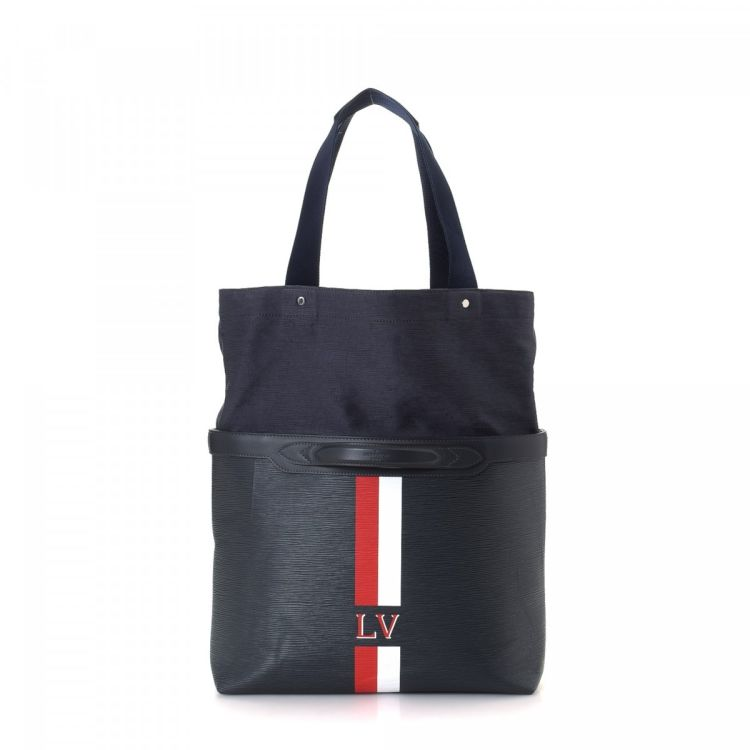 ac8e46140e88 LXRandCo guarantees this is an authentic vintage Louis Vuitton Cabas tote.  This iconic tote was crafted in epi stripes leather in black.