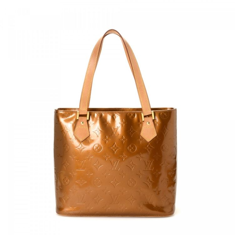 f3bb4ada40fe LXRandCo guarantees this is an authentic vintage Louis Vuitton Houston  shoulder bag. This beautiful bag was crafted in vernis patent leather in  bronze.