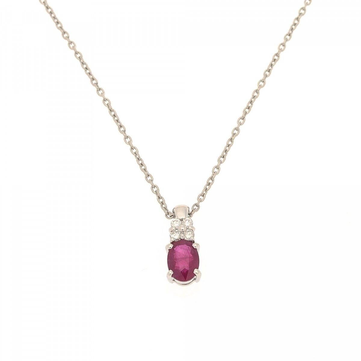 en owned necklaces lxrandco pre estate jewelry and diamond large vintage platinum luxury ruby necklace us