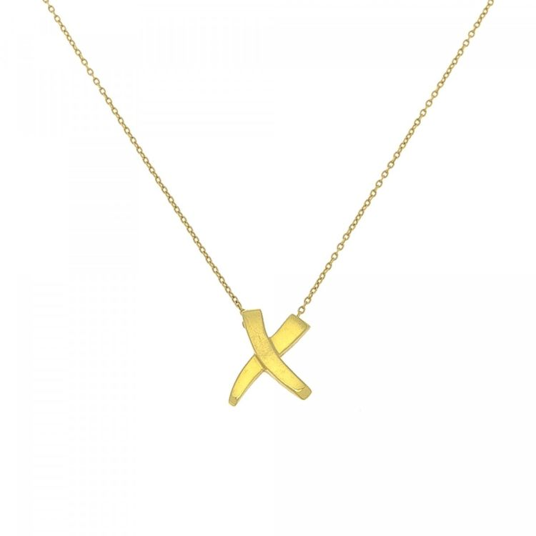 eab294fb8 Tiffany Kiss X Paloma Picasso Pendant Necklace 45cm 18K Gold ...