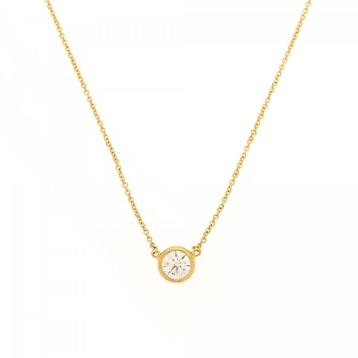 tiffany diamonds by the yard pendant necklace 18k gold