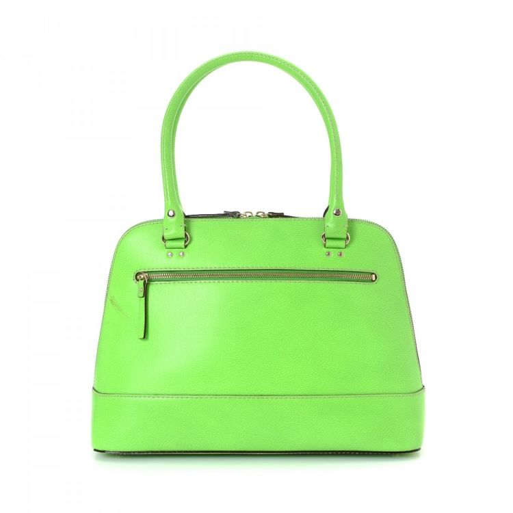 Lxrandco Guarantees The Authenticity Of This Vintage Kate Spade Shoulder Bag Crafted In Leather Everyday Comes Beautiful Lime Green