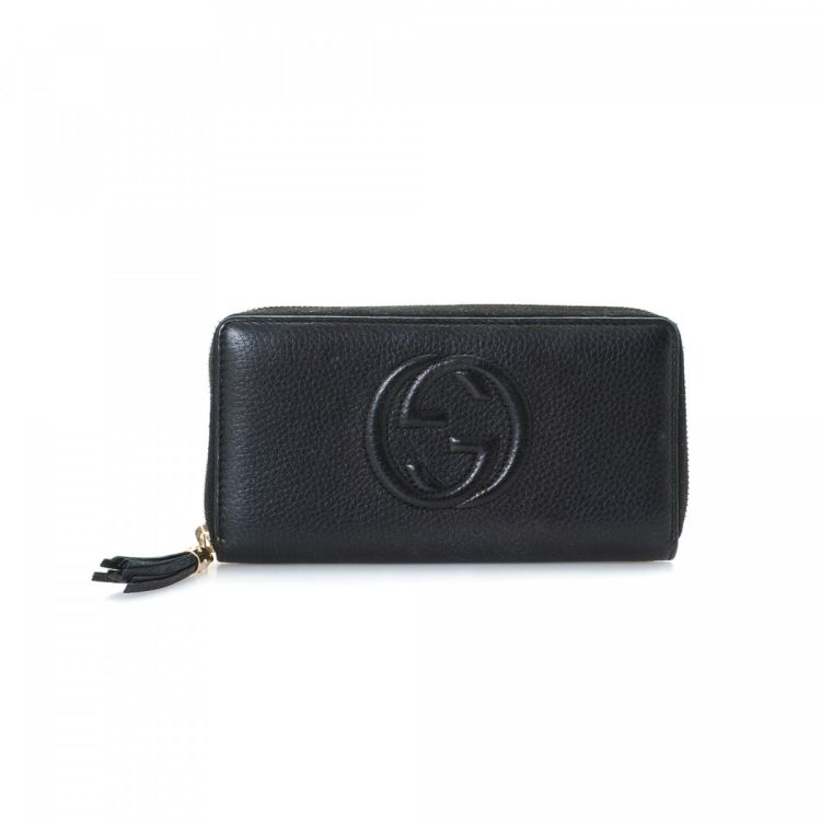 daa8f4870849 Gucci Soho Wallet Soho Leather - LXRandCo - Pre-Owned Luxury Vintage