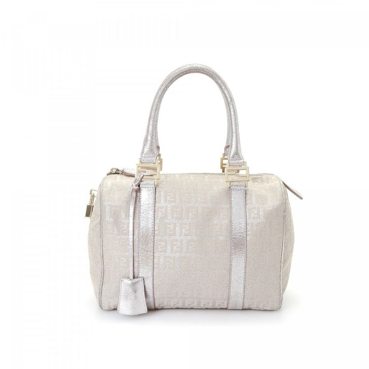 f7e612484f77 ... uk fendi zucchino handbag zucchino canvas lxrandco pre owned luxury  vintage 153cb 3b254
