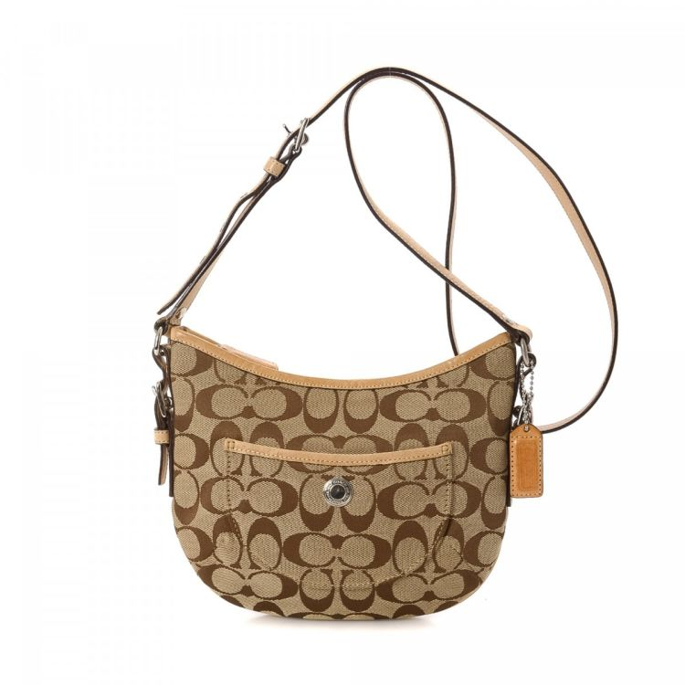 f268bf00955d Coach Crossbody Bag Canvas - LXRandCo - Pre-Owned Luxury Vintage