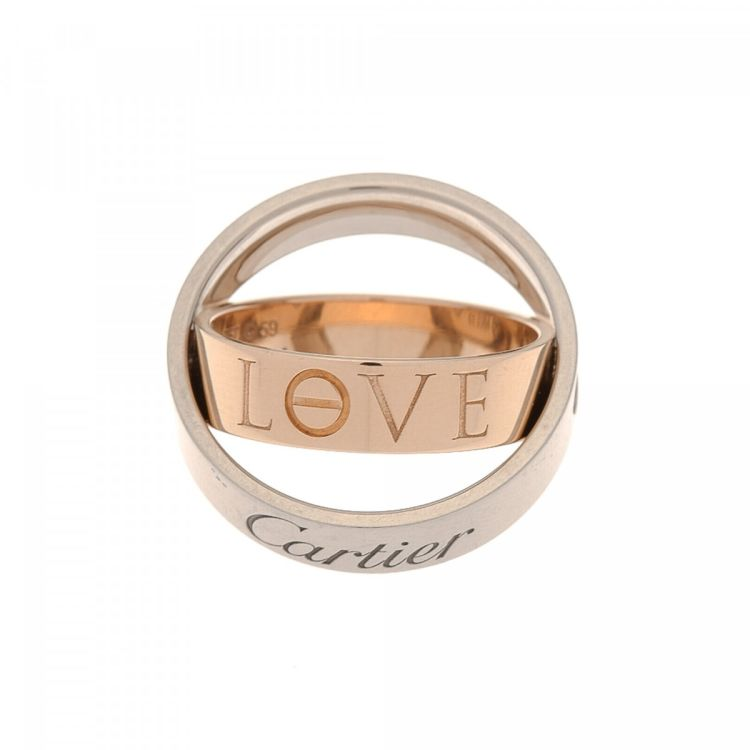 lxrandco guarantees the of this vintage cartier love secret ring this beautiful ring in twotone is made of 18k gold