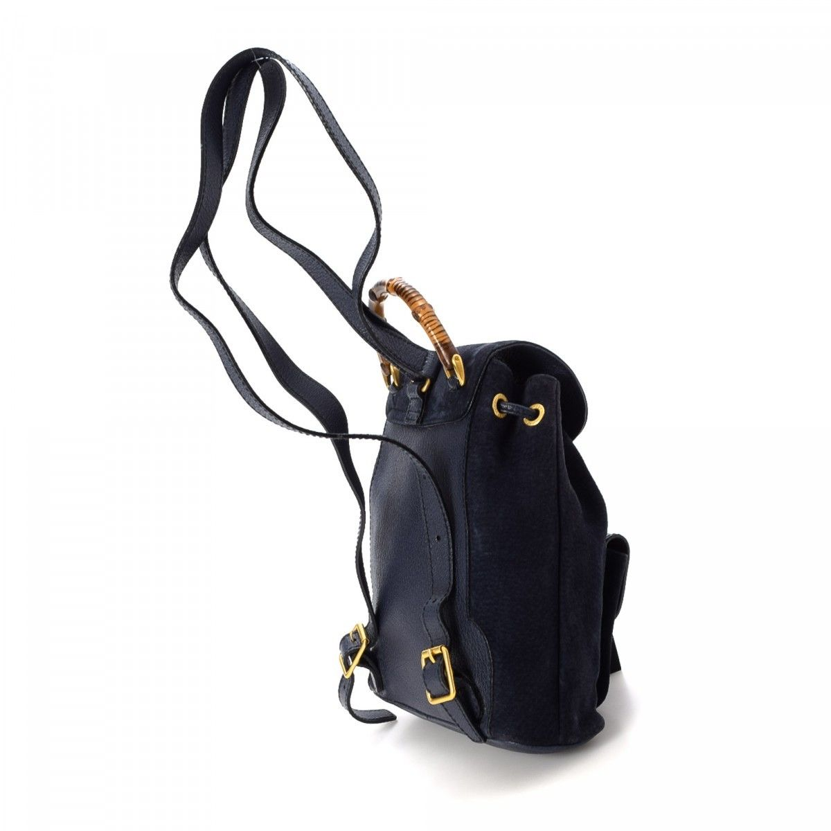 f03a0fdd67f Bamboo Backpack. Free Shipping. LXRandCo guarantees the authenticity of  this vintage Gucci backpack. This practical school bag in beautiful navy is  made ...