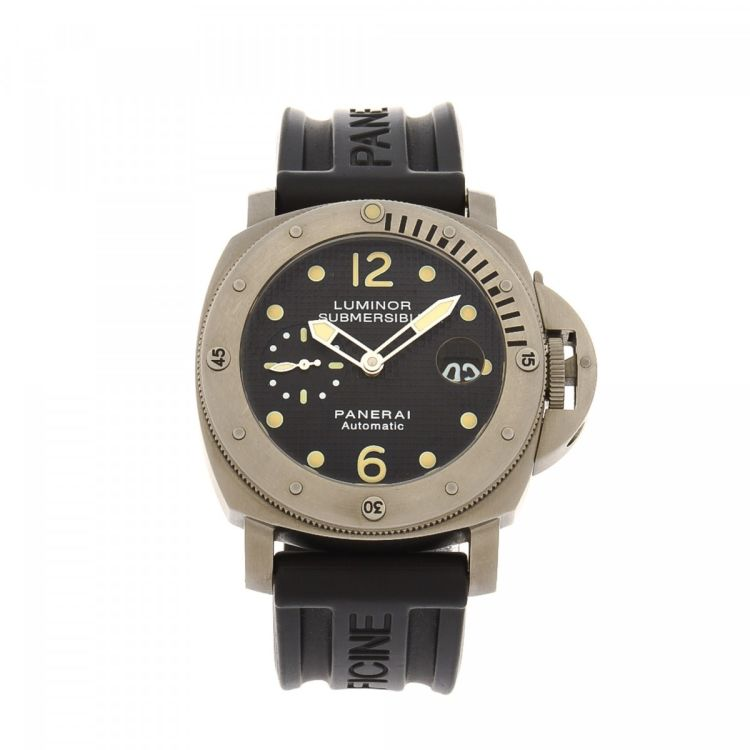LXRandCo guarantees the authenticity of this vintage Panerai Luminor  Submersible Automatic Firenze 1860 Diver s Professional 44mm watch. d6a2323ad9c5