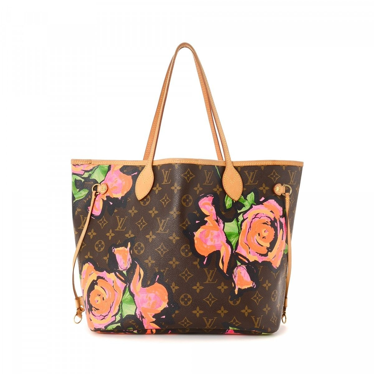 Louis Vuitton Neverfull Mm Stephen Sprouse Limited Edition Monogram Roses Coated Canvas Lxrandco Pre Owned Luxury Vintage