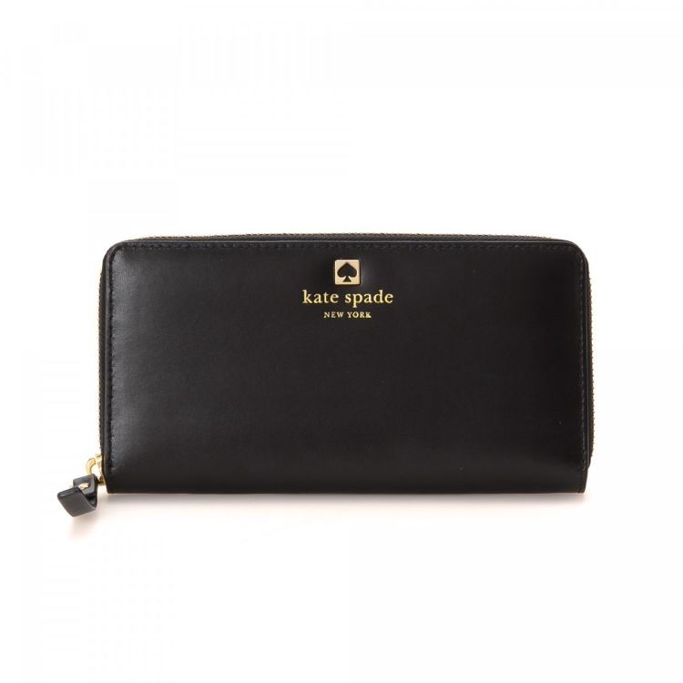 6932803136 LXRandCo guarantees this is an authentic vintage Kate Spade Zip Around  wallet. This chic bifold comes in beautiful black leather. Very good  condition  (A)