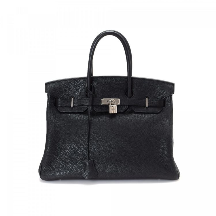 4b79618594 The authenticity of this vintage Hermès Birkin 35 Silver Hardware handbag  is guaranteed by LXRandCo. This signature pocketbook was crafted in togo  calf in ...