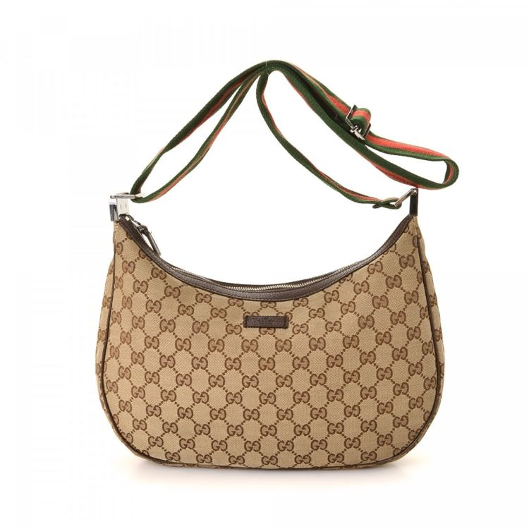 41f9a6225a0c LXRandCo guarantees the authenticity of this vintage Gucci Crossbody Bag  messenger & crossbody bag. This signature messenger & crossbody bag was  crafted in ...