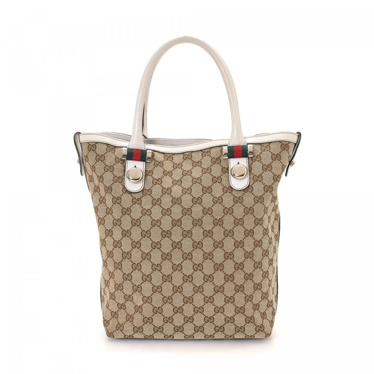 5fc968211 Gucci GG Canvas Tote Bag GG Canvas - LXRandCo - Pre-Owned Luxury Vintage