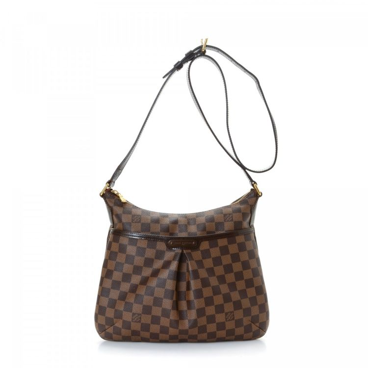 e7bd0a252559 The authenticity of this vintage Louis Vuitton Bloomsbury PM messenger   crossbody  bag is guaranteed by LXRandCo. Crafted in damier ebene coated canvas