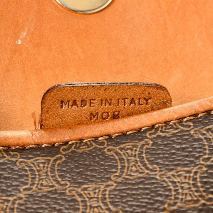 551b49618f7 LXRandCo guarantees this is an authentic vintage Céline Bag clutch. This  exquisite envelope in beautiful brown is made in macadam coated canvas.