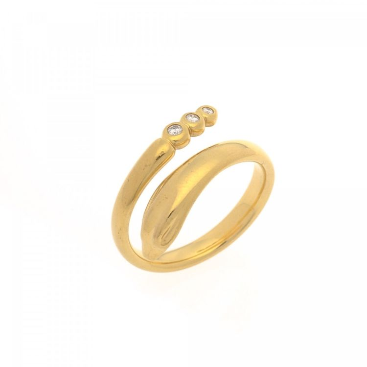 Tiffany Elsa Peretti Snake Ring 18K Gold - LXRandCo - Pre-Owned ...