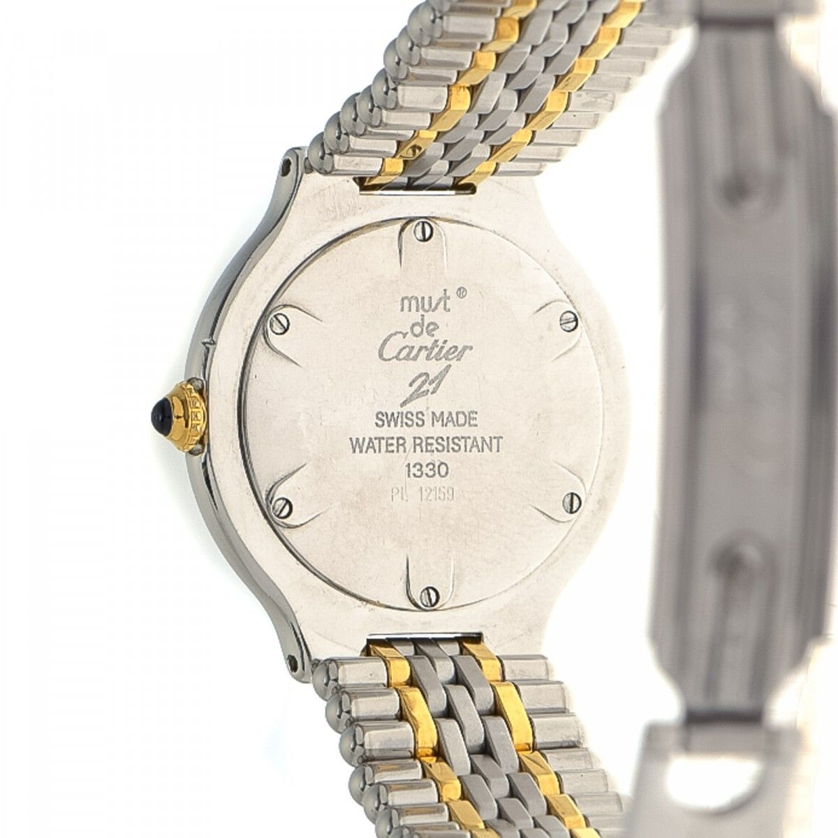 d2982a3eef10 Cartier Must de Cartier 21 25mm 1330 Stainless Steel - LXRandCo ...