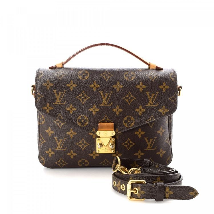 The Authenticity Of This Vintage Louis Vuitton Pochette Metis Messenger Crossbody Bag Is Guaranteed By Lxrandco Iconic In Brown Made