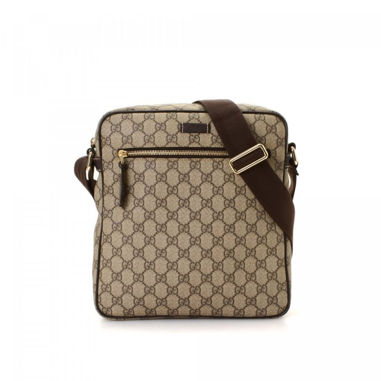 4b987acd637e Gucci GG Supreme Crossbody Bag GG Supreme Coated Canvas - LXRandCo ...