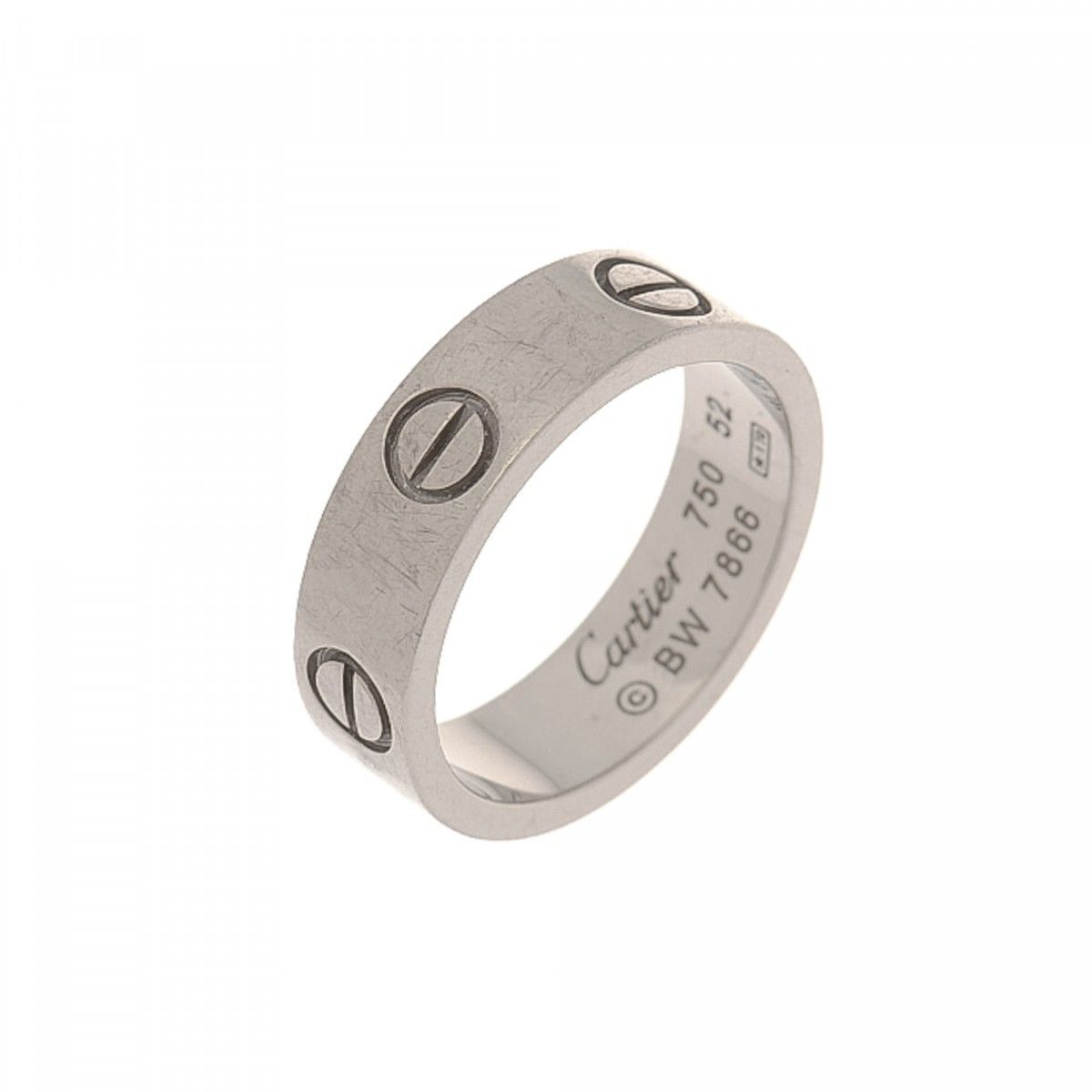 Cartier Love Ring Size US 6/Cartier 52 18K White Gold - LXRandCo ...