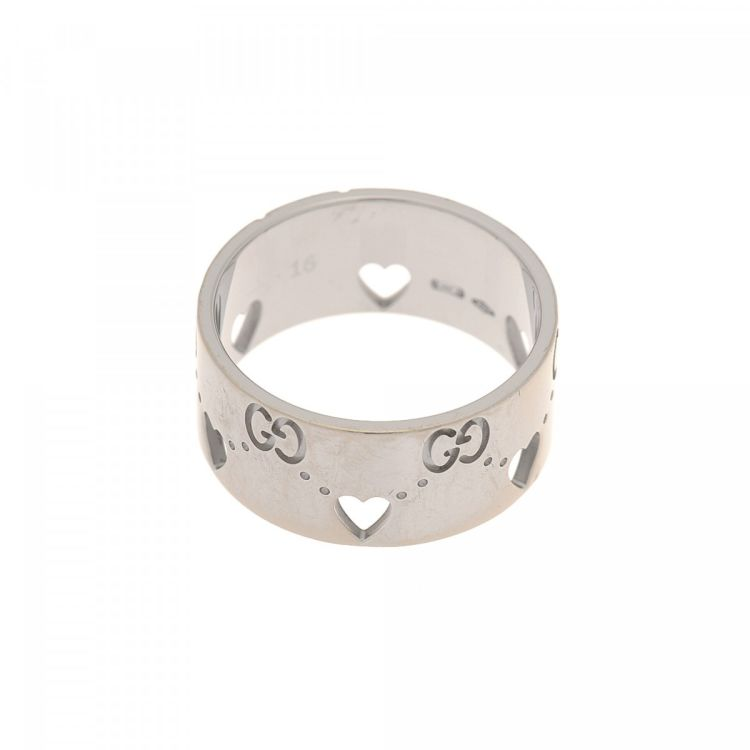 43e374bef260b Heart Icon Ring Size US 7.5/Gucci 16