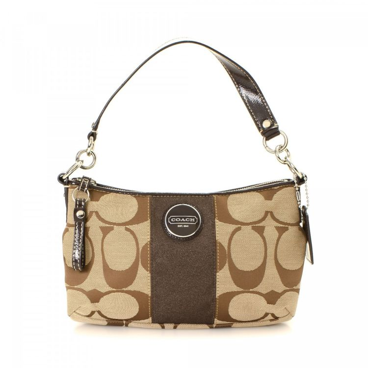 ... uk lxrandco guarantees the authenticity of this vintage coach signature  stripe handbag. this lovely bag 5c404dff7db14